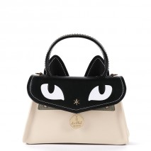 'Chantilly Le Chat Premier' Nappa Leather handbag Cream