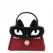 'Chantilly Le Chat Premier' Nappa Leather handbag Bordeaux