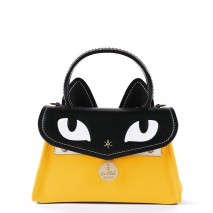 'Chantilly Le Chat Premier' Nappa Leather handbag Yellow
