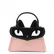 'Chantilly Le chat Premier' Sac à main Cuir Rose Poudré