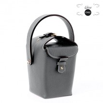 'Tuilerie' Nappa leather handbag Black & Gold