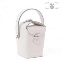 'Tuilerie' Nappa leather handbag Pearl & Gold