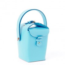 'Tuilerie' Nappa leather handbag Sky Blue & Gold