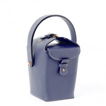 'Tuilerie' Nappa leather handbag Dark Blue & Gold