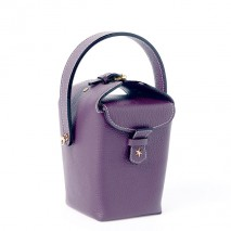 'Tuilerie' Nappa leather handbag Dark Purple & Gold