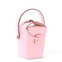 'Tuilerie' Nappa leather handbag Light Pink & Gold