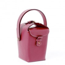 'Tuilerie' Nappa leather handbag Dark Red & Gold