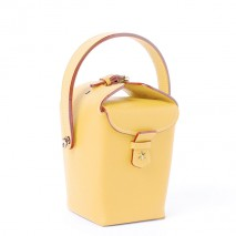 'Tuilerie' Nappa leather handbag Yellow & Gold