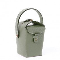 'Tuilerie' Nappa leather handbag Dark Green & Gold