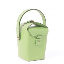 'Tuilerie' Nappa leather handbag Apple Green & Gold