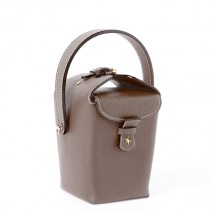 'Tuilerie' Nappa leather handbag Chocolate n & Gold