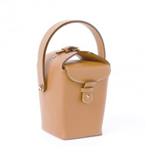 'Tuilerie' Nappa leather handbag Cognac & Gold
