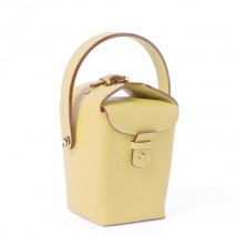 'Tuilerie' Nappa leather handbag Yellow Green & Gold