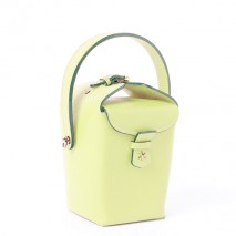 'Tuilerie' Nappa leather handbag Light Green Yellow & Gold