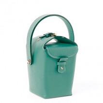 'Tuilerie' Nappa leather handbag Vert Pin & Gold
