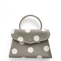 'Chantilly Petit' Pois Sac à main Cuir Nappa Élephant & Or