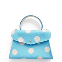 'Chantilly Petit' Pois Sac à main Cuir Nappa Azur & Or
