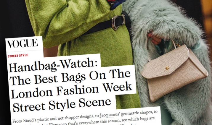 London Fashion Week AW 2018, le sac gb 'Chantilly' l'un des 'best bags' du street style selon le magazine Vogue Anglais